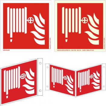 Hier klicken Löschschlauch/ Wandhydranten- Schild ISO F002, von 150- 200 mm