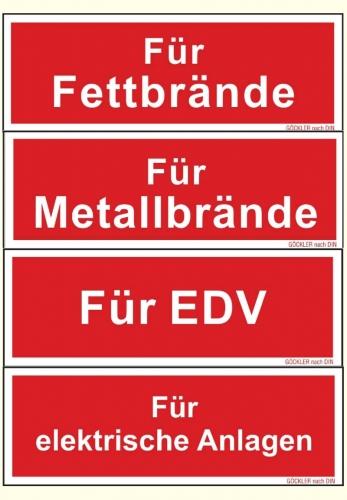 Zusatzschilder f.Feuerlöscher Symbol Schild