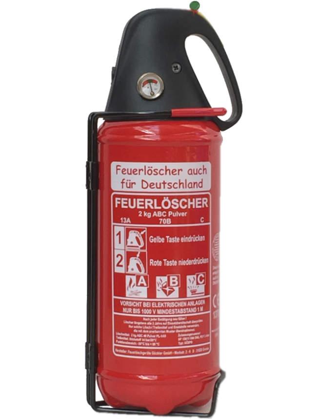 Feuerlöscher Halterung für 2kg Nordic Flame Auto Kit Boot schwarz