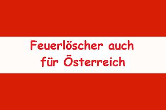 Feuerlöscher auch für Österreich