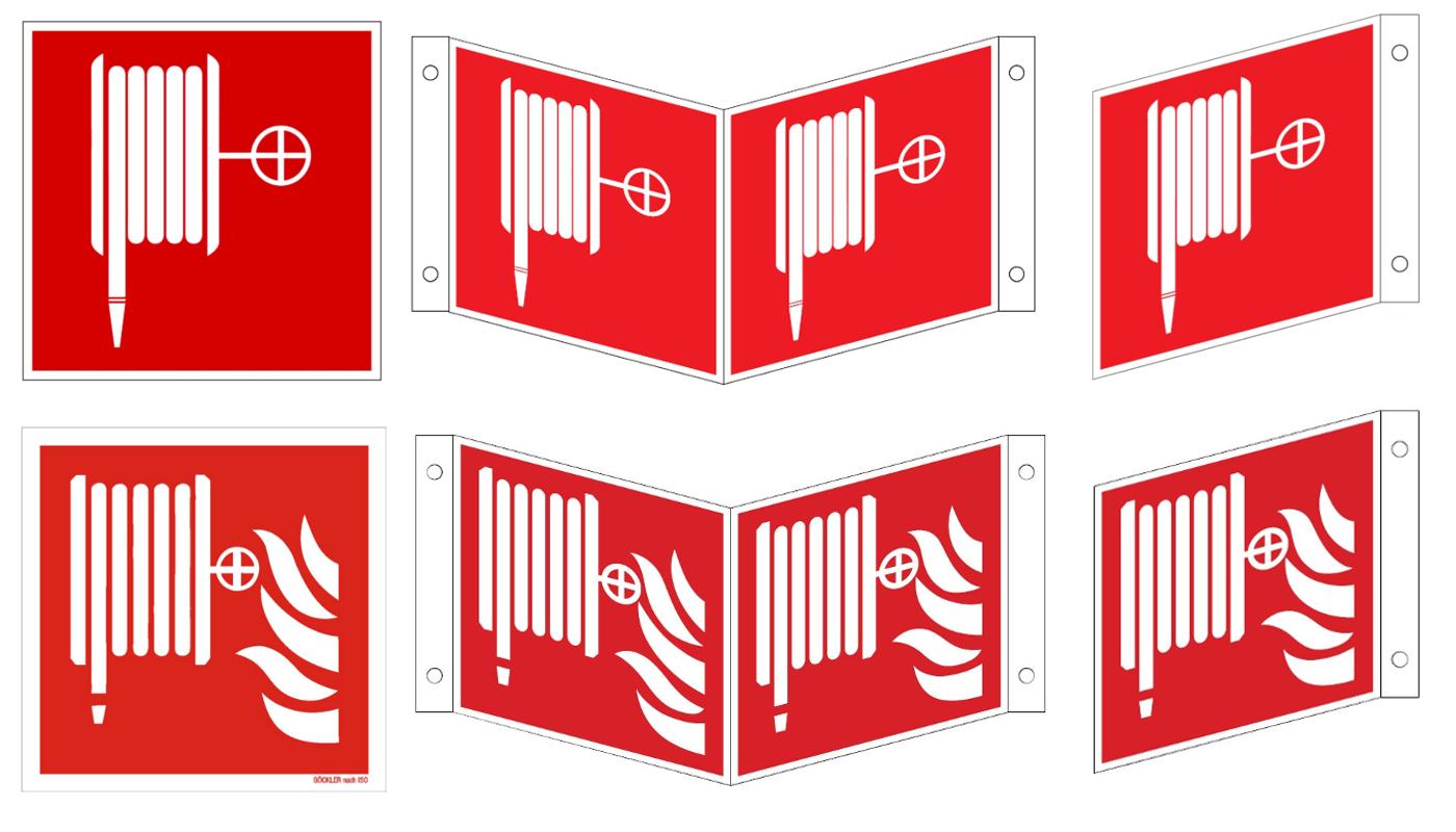 Wandhydranten-Symbol Löschschlauch ISO