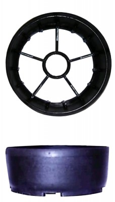 Feuerlöscher Kunststoffstandfuß schwarz für 150 Ø