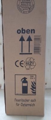9L Feuerlöscher auch für Österreich Schaum AB DIN EN 3 GS Hotellerie Wandhalter Manometer, mit oder ohne Instandhaltungsnachweis erhältlich!